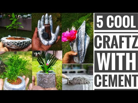 Five cement ideas that are so easy || cool crafts with concrete|