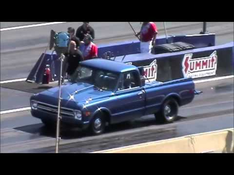 68 chevy c10 vs. 68 plymouth cuda at Pinks All Out!