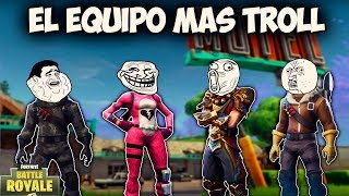 EL EQUIPO MAS TROLL - MOMENTOS DIVERTIDOS (Funny Moments) | FORTNITE - PACO TORREAR