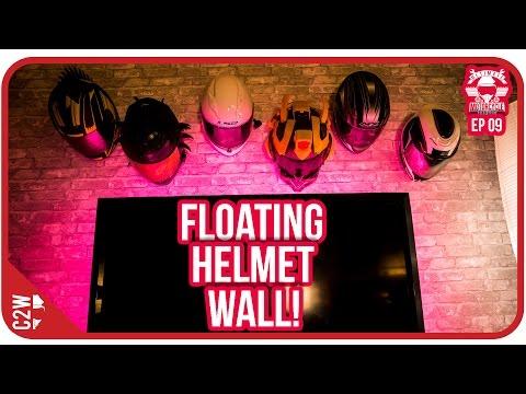 FLOATING Helmet WALL!! - Garage Build Ep 09