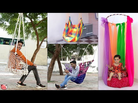 4 DIY SWING JHULA YOU CAN MAKE AT HOME    COOL OUTDOOR HANGING CHAIR