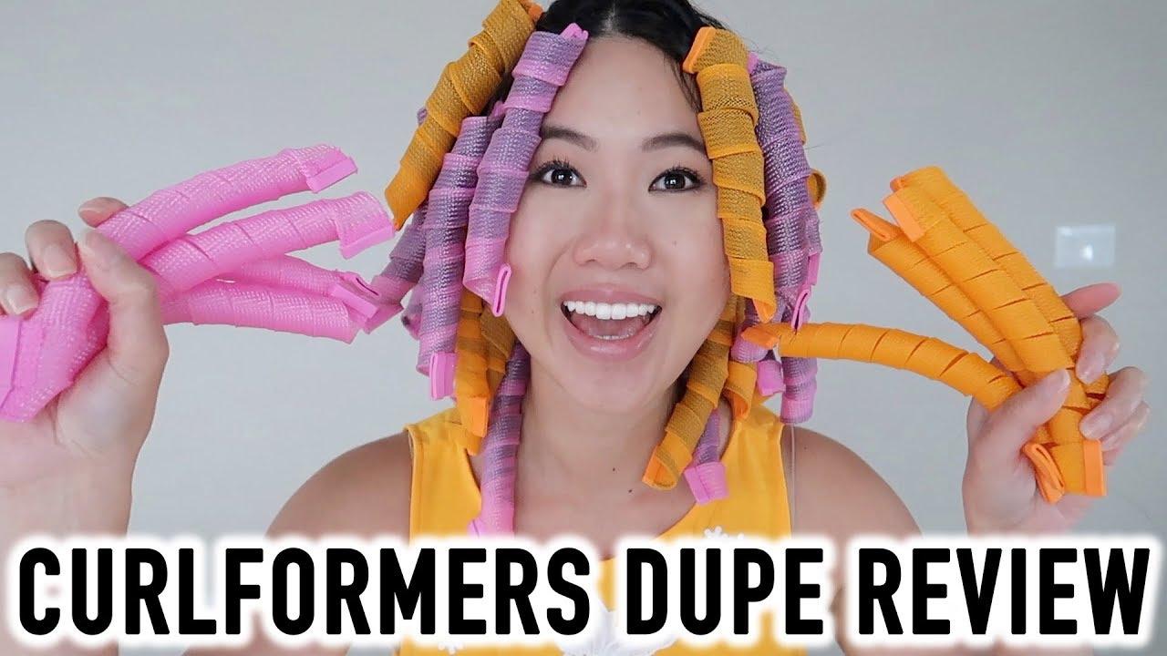 Best Heatless Hair Curlers Curlformers Dupe Review Tutorial
