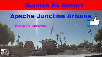 RV Life Living Full Time S4 E16 Sunrise RV Resort Apache Junction Arizona Passport America