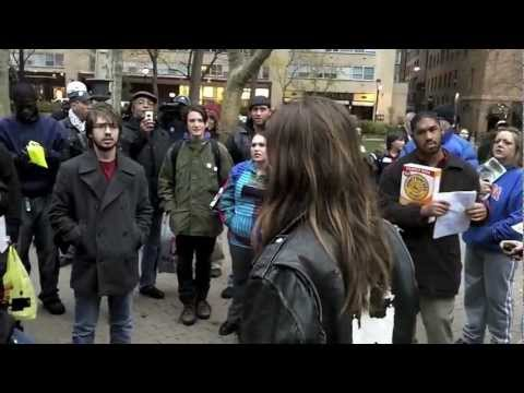 Occupy Philly post-eviction rally, Rittenhouse Square, Nov. 30, 2011