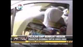 video mesum pelajar smp islam di cirebon mesum tertangkap satpam