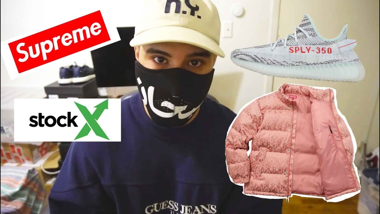 Dopest Stockx Haul Yeezy 350 V2 Ultra Boost Lux Supreme Face Mask Jacquard Jacket