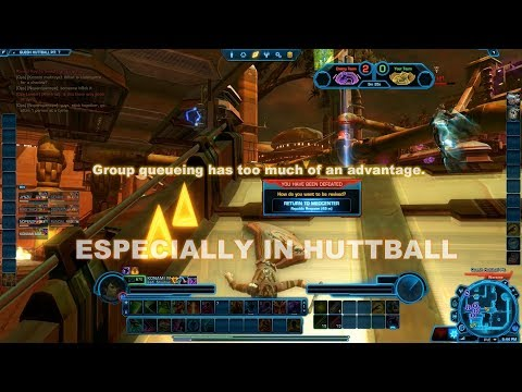 SWTOR PVP - Pwn'd by Premade in Quesh Huttball - Infiltration Shadow