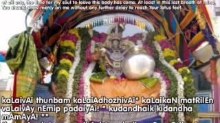 Aaravamudhe adiyen udalam- Nithyanusanthanam; Kovil Tiruvaimozhi 5 (with meaning)