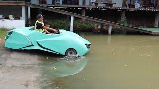 ขับรถสปอร์ตหรูลงน้ำ!! จะรอดหรือไม่? | CLASSIC NU