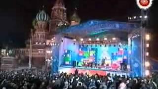 2007年1月1日、ロシア・モスクワの赤の広場でおこなわれた、チェルシー...