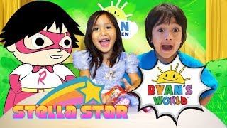 Ryan's World Mystery Jellies- Toy Review- Stella Star (Hooked On Fun Videos)