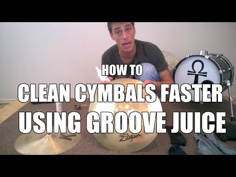 How To Clean Cymbals Faster When Using Groove Juice Or Sabian Cymbal Polish