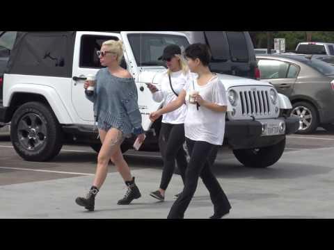 Lady Gaga vists Starbucks in Malibu, CA
