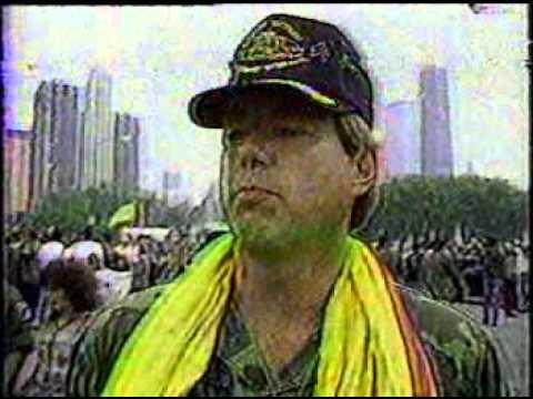 James Hobson 1986 Vietnam News Broadcast after parade
