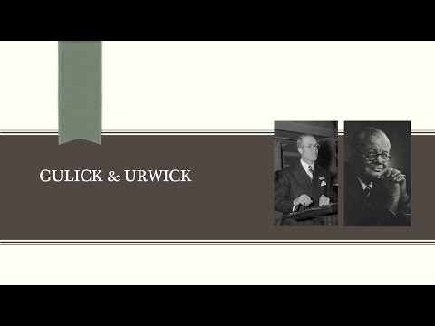 luther gullick s theory on managements Read conceptualising the nature of work: revisiting luther gulick's theories of organisation, journal of management history on deepdyve, the largest online rental service for scholarly research with thousands of academic publications available at your fingertips.