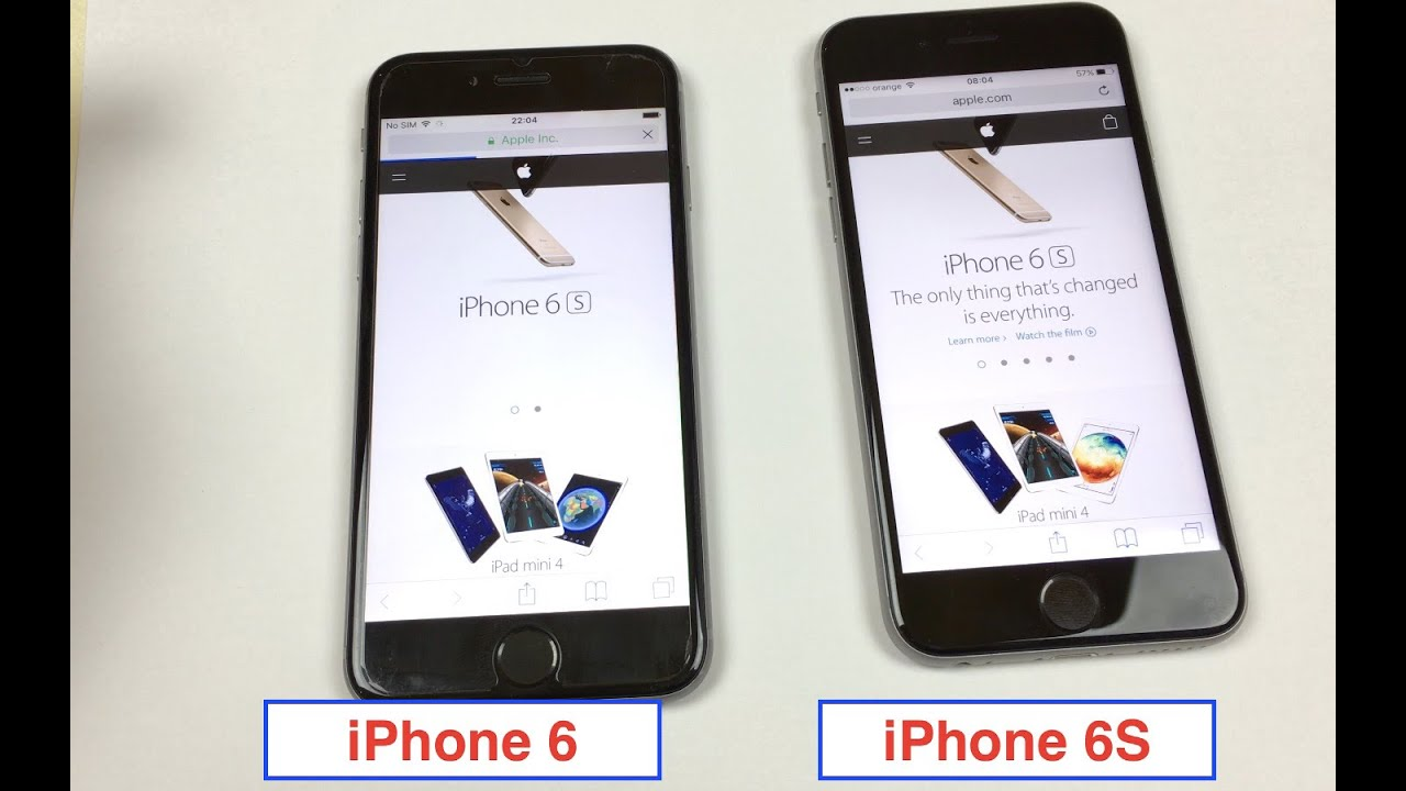 iPhone 6S vs iPhone 6 Touch ID Fingerprint Speed 4k Video