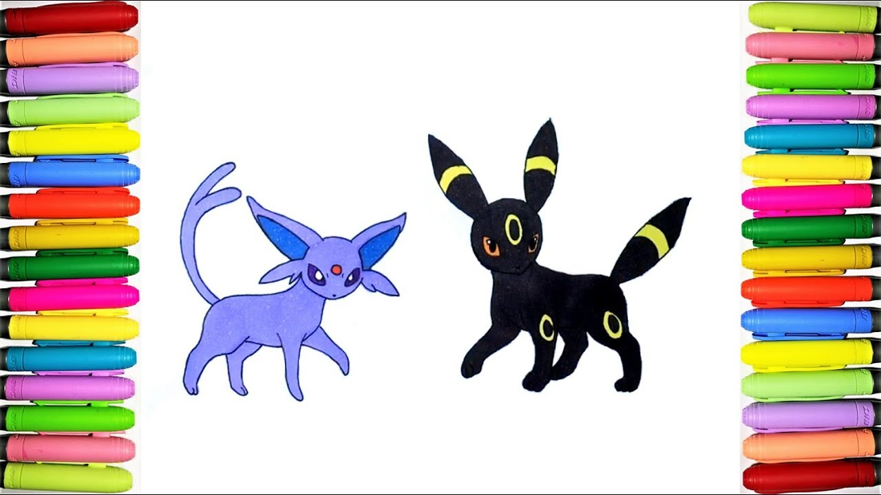 Pokemon Coloring Pages Espeon And Umbreon Youtube