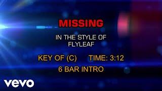 Flyleaf - Missing (Karaoke)