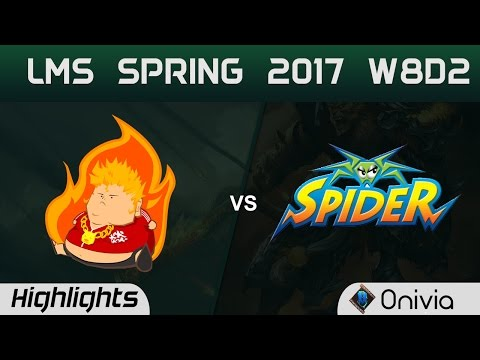 FB vs WS Highlights Game 2 LMS 精華 春季職業聯賽 2017 W8D2 Fireball vs Wayi Spyder