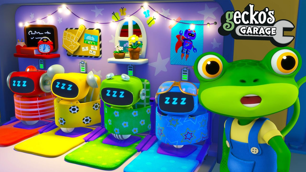 Gecko's Late Night Job|Gecko's Garage|Funny Cartoon For Kids|Learning Videos For Toddlers