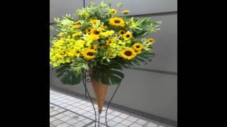 及川奈央様あて、スタンド花をスペースゼロへ配達しました。 http://www...