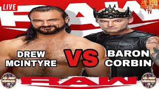 WWE Monday Night RAW Live Stream April 5th 2021 Drew Mcintyre VS Baron Corbin Full Live Reactions