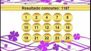 sorteio resultado lotofacil 1187 Palpite 1188