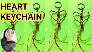 Plastic Wire Heart Keychain /Scoobie Wire heart keychain /plastic wire craft/Shoba handcrafts