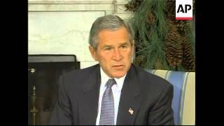 bush meets musharraf for talks on war on terror