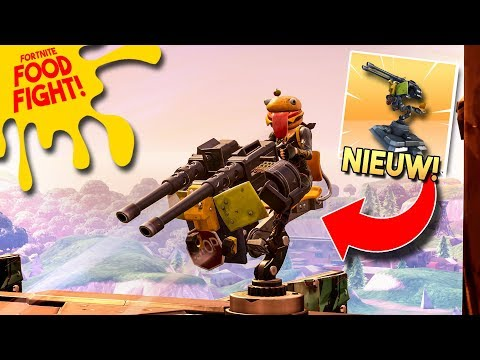 *SENTRY GUN* PRIMEUR in FOOD FIGHT MINIGAME!! - Fortnite Battle Royale (Nederlands)