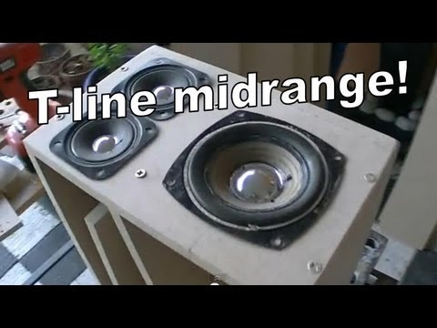 Building the T-line system!! 1 - High midrange