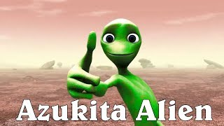 Dame Tu Cosita version Azukita Alien - Green Alien dance