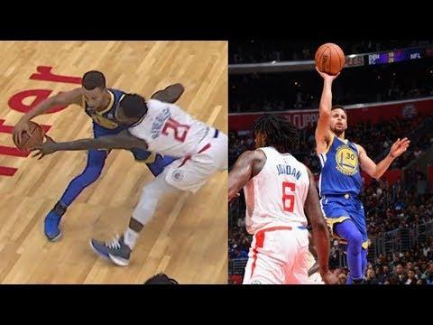 Draymond Green Fined $25K! Warriors Score 141, Curry 7 Threes! Warriors vs Clippers 2017-18 Season