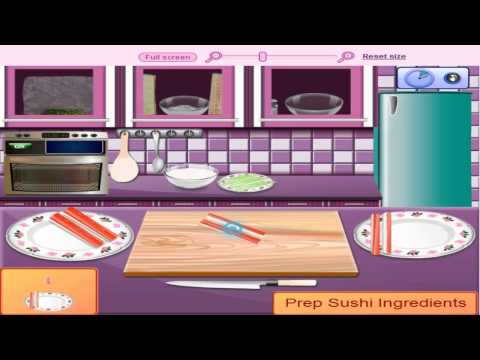 เกมส์ทําอาหาร Saras Cooking Class California Rolls