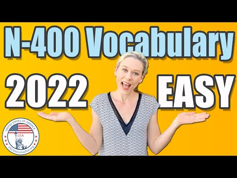2021 N-400 Vocabulary Definitions | EASY \u0026 SIMPLE | US Citizenship Interview
