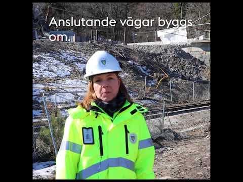 Ny Bro över Värtabanan I Norra Djurgårdsstaden. Mars 2018