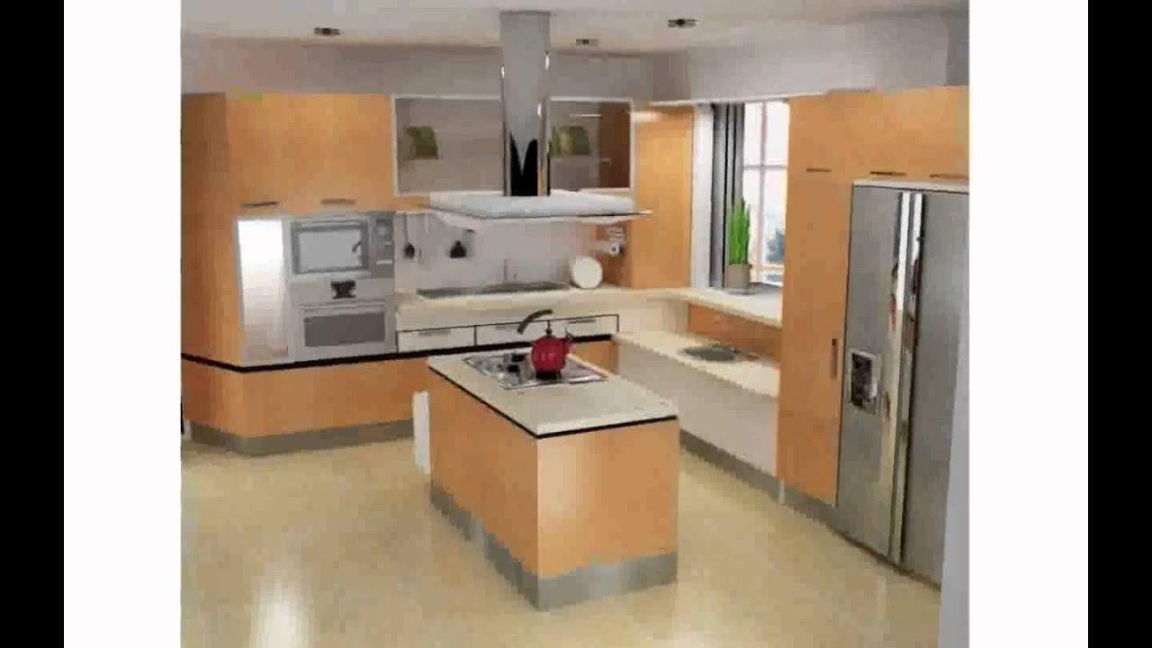 Cocinas modernas peque as youtube for Modelo de cocina pequena para apartamento
