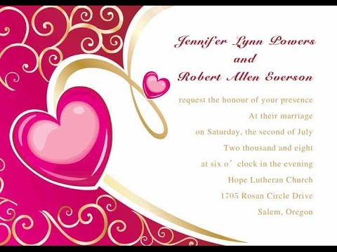 Wedding invitations card youtube wedding invitations card stopboris