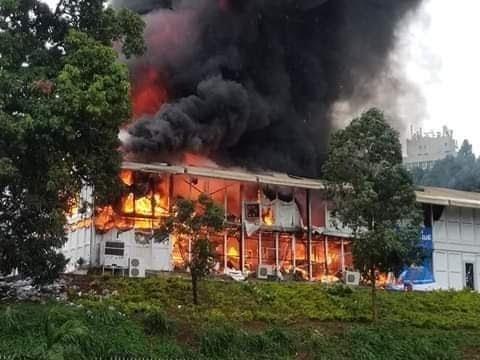 Urgent: Incendie au palais des congres de Yaoundé à l'instant ?