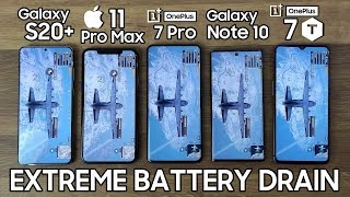 Samsung Galaxy S20 Plus vs iPhone 11 Pro Max / OnePlus 7 Pro / Note 10 / 7T - BATTERY DRAIN TEST!