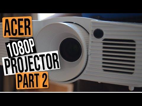 ACER HD H6517ABD 1080P 3D DLP BEST BUDGET 2018 PROJECTOR REVIEW - PART 2