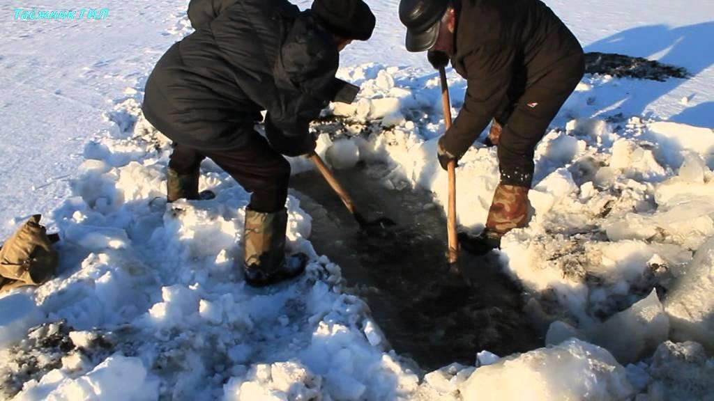Зимняя рыбалка на тягу