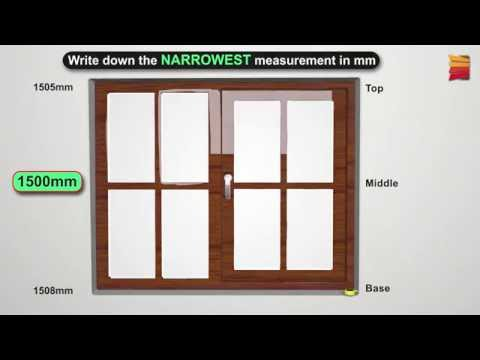 How to measure for Recess (Inside) Vertical and Panel blinds