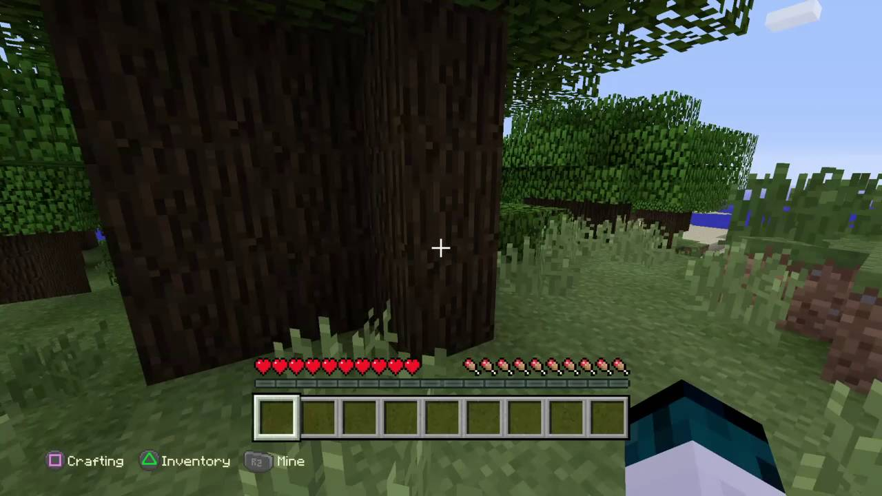 Minecraft Ps4 Edition Tutorial How To Build A Crafting Table