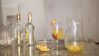 Peach Sangria Made With Peach Nectar : Sangria Recipes