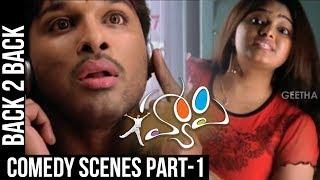 Happy Comedy Scenes   Back to Back   Part 1   Allu Arjun, Genelia   Geetha Arts