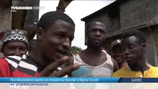 Guinée : manifestations contre un 3ème mandat de Condé