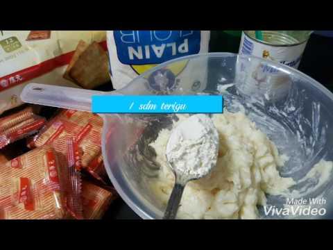 Cara membuat crackers isi tape