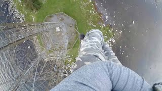 Daredevil Slides Down 260ft Pole With No Harness