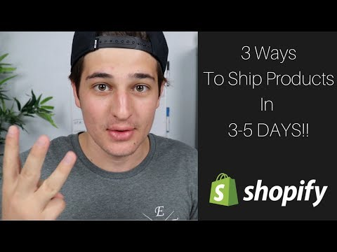 3 Ways To Ship Products In 3-5 DAYS (Secret method) - Shopify Drop-shipping